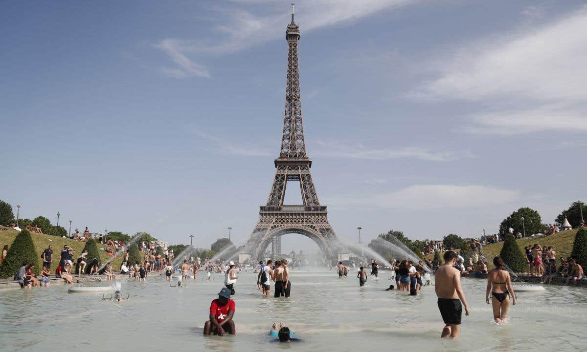 Début de la canicule en France