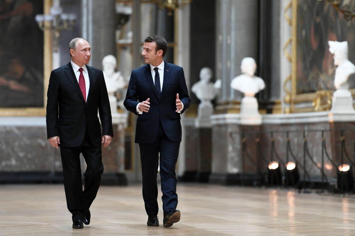 Emmanuel Macron reçoit Vladimir Poutine