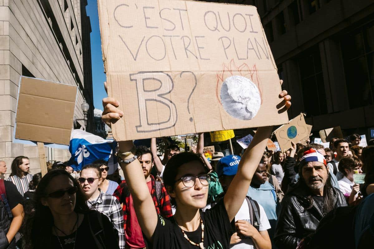 Manifestation à Montréal pour le climat
