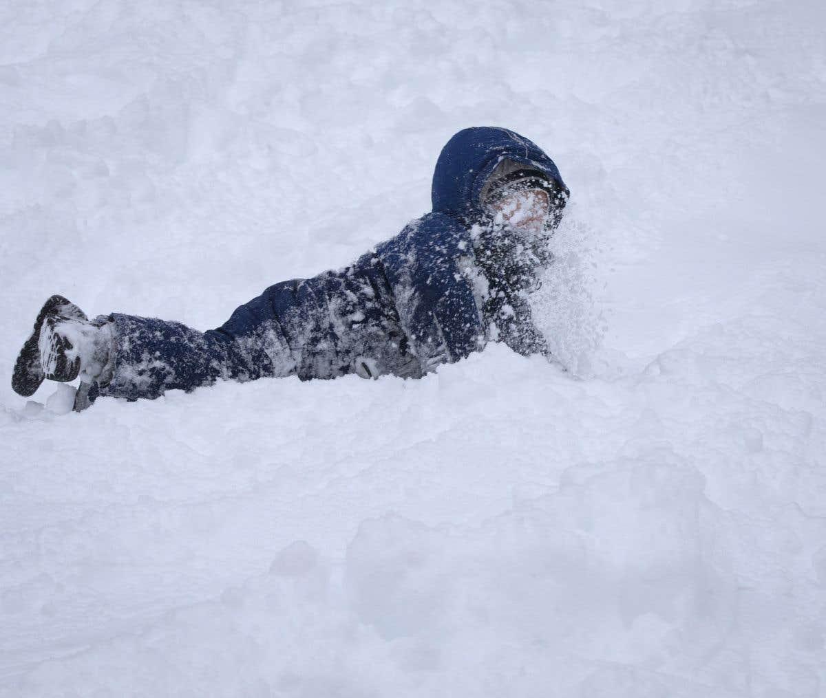 Beaucoup de neige au Québec