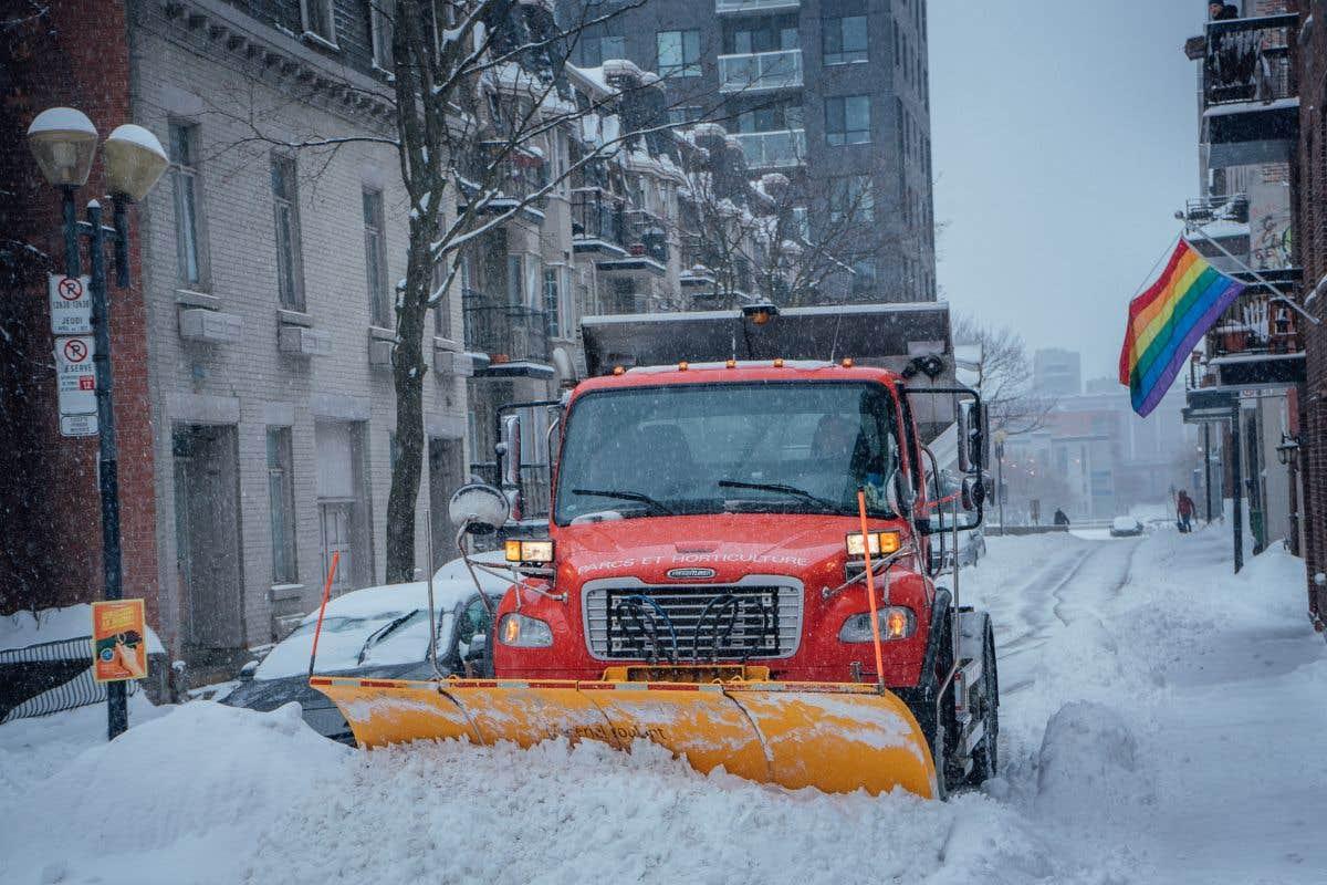 Tempête de neige sur le Québec