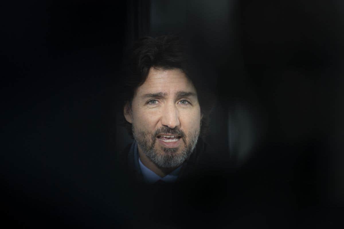 Justin Trudeau en point de presse