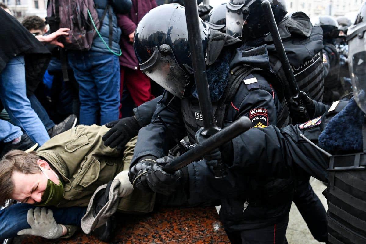 Des manifestations pourAlexeï Navalny