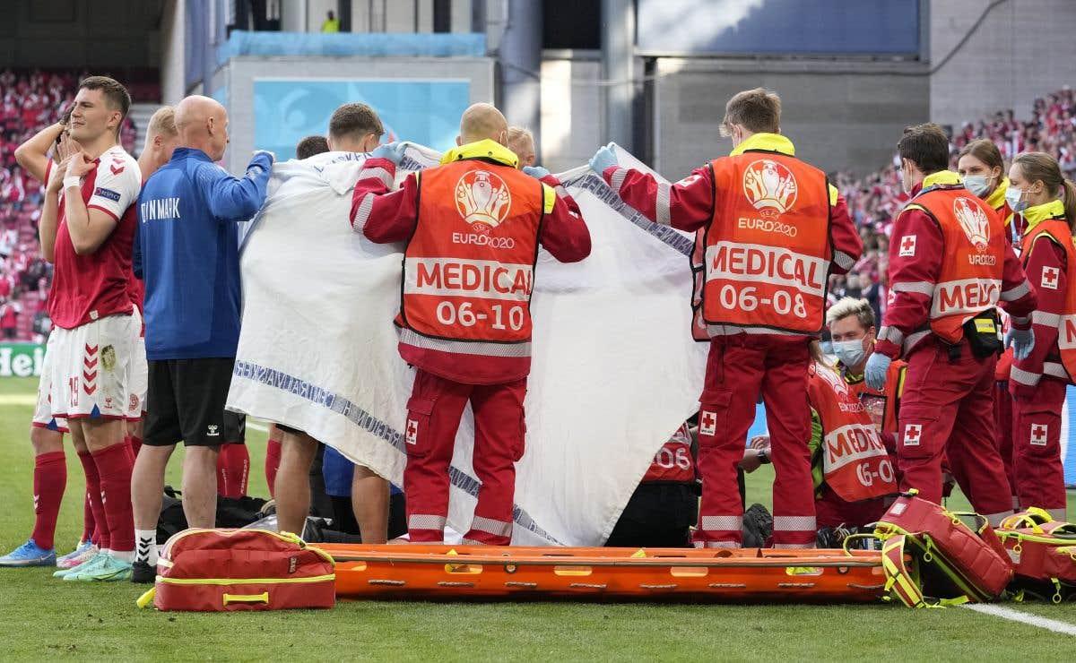 « Mort» en plein match de l'Euro
