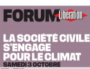 Forum Libération: la société civile s'engage pour le climat, le 3 octobre
