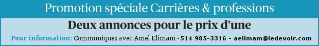 Promotion spéciale Carrières et professions