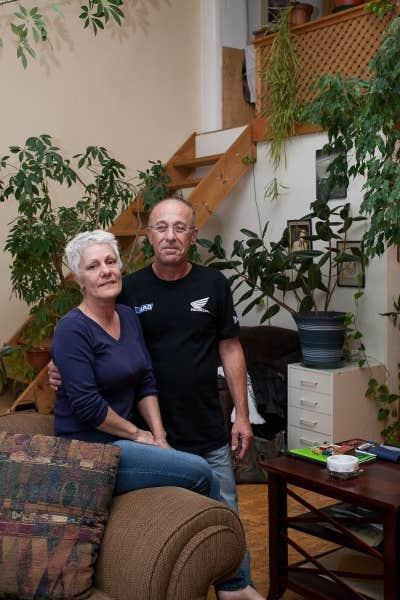 Michel et Lauraine dans leur logement