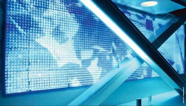 un mur luminescent interactif pour le futur amphith tre de qu bec le devoir. Black Bedroom Furniture Sets. Home Design Ideas