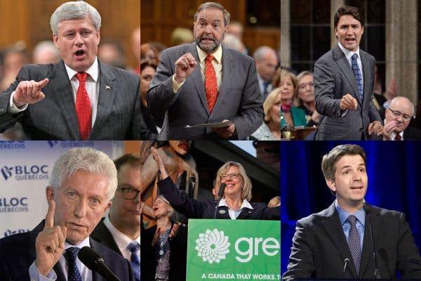 Six chefs sur la ligne de départ