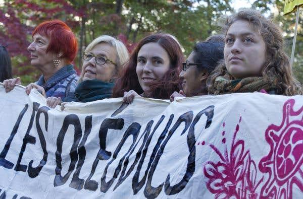 Manifestation à Montréal contre les oléoducs