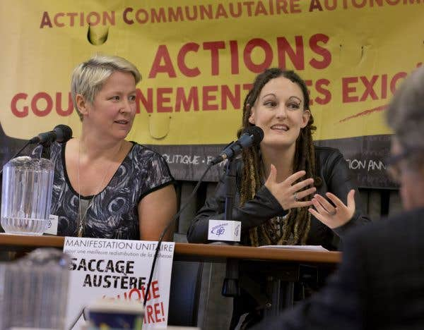 Au Centre Saint-Pierre, près de la haute tour de Radio-Canada, se tenait lundi une commission populaire où se sont exprimés plusieurs groupes voués à aider les autres.