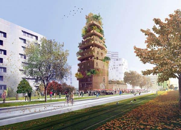 L'ancienne gare Masséna, dans le 13earrondissement. Le projet «Réalimenter Masséna, L'Alimentation de la fourche à la fourchette» se veut un lieu dédié à l'agriculture urbaine, l'alimentation, la recherche et l'art.