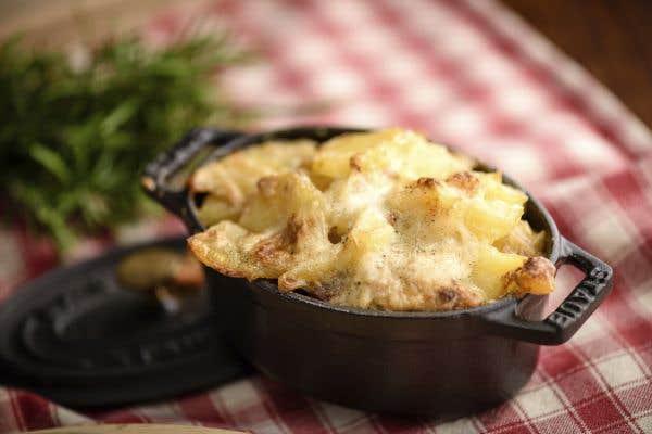 Gratin de pommes de terre et jambon au mishtan le devoir - Gratin de pomme de terre jambon ...