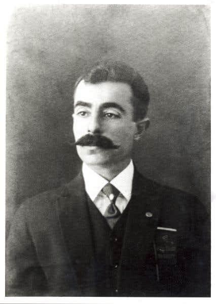 Emmanuel Briffa à son arrivée en Amérique, photo prise entre 1912 et 1920
