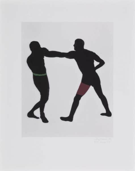 Boxe 17 (2004), de Louise Delorme, impression numérique à jet d'encre sur chiffon. Collection de l'artiste.