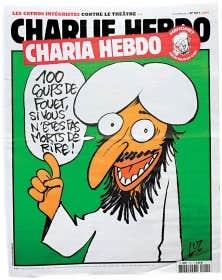 Pour un dessin de Mahomet, le journal Charlie Hebdo flambe ...