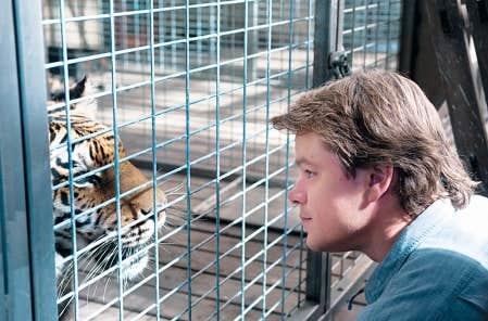 We Bought a Zoo est tir&eacute; d&rsquo;un r&eacute;cit autobiographique de Ben-jamin Mee, camp&eacute; ici par l&rsquo;excellent Matt Damon, dans un regis-tre nouveau pour lui.<br />
