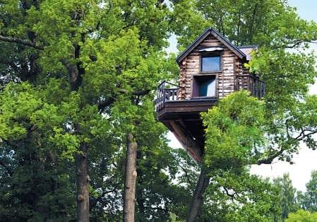 Au Salon chalets et maisons de campagne, on pourra visiter une cabane construite dans les arbres par une entreprise des Laurentides, Vivre perch&eacute;.<br />