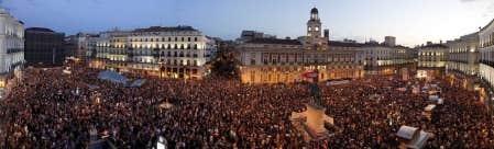 Les Espagnols voulaient manifester hier leur m&eacute;contentement au gouvernement de droite.<br />