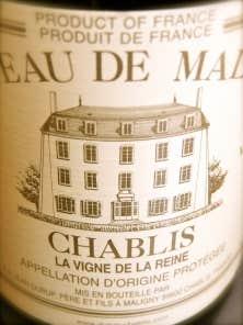 Chablis 2010, La Vigne de la Reine: int&eacute;grit&eacute; fruit&eacute;e de premier plan!<br />
