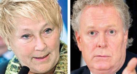 <div> &Eacute;changes muscl&eacute;s hier &agrave; Qu&eacute;bec entre la chef p&eacute;quiste Pauline Marois et le premier ministre Charest.</div>