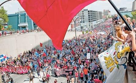 La lutte et la mobilisation étudiante ne trouvent pas écho dans les autres provinces canadiennes.
