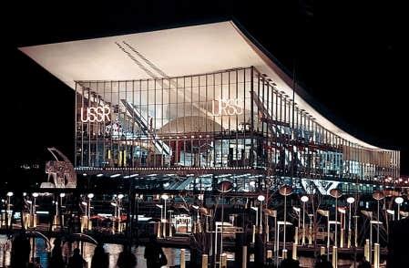 <div> Le pavillon de l&rsquo;Union sovi&eacute;tique durant l&rsquo;Expo 67. En pleine guerre froide, il fut l&rsquo;une des vedettes de l&rsquo;Exposition universelle et, &agrave; ce titre, l&rsquo;un des plus visit&eacute;s.</div>