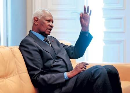 Le secrétaire général de l'Organisation internationale de la Francophonie, Abdou Diouf. Avec ses 80 millions d'habitants, la République démocratique du Congo, pays hôte du Sommet, est le pays le plus peuplé du monde à avoir le français comme langue officielle.
