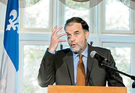 Le ministre de l'Enseignement supérieur, Pierre Duchesne