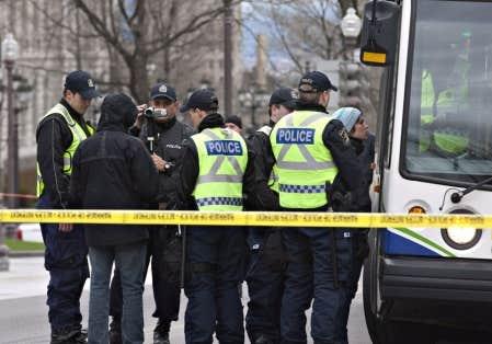 La plainte découle du travail des policiers lors de la manifestation du 27 avril dernier.