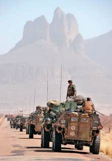 Un convoi de l'armée française jeudi près de Gao