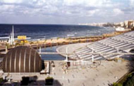 La nouvelle Bibliothèque d'Alexandrie, sur la côte égyptienne de la Méditerranée.