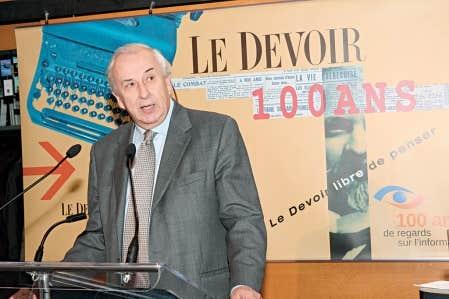 Le directeur du Devoir, Bernard Descôteaux, a dévoilé hier le programme d'activités du centenaire du journal fondé en 1910.