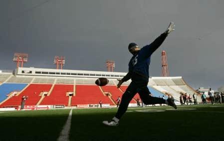Les Alouettes à l'entraînement à Calgary
