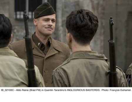 Brad Pitt dans Inglourious Basterds, de Quentin Tarantino