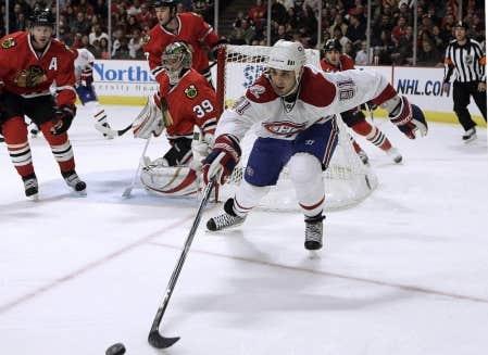 Le joueur de centre du Canadien, Scott Gomez