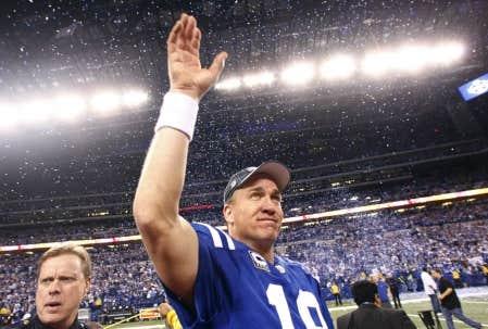 Le quart-arrière des Colts, Peyton Manning, après la victoire des siens, hier, contre les Jets de New York.