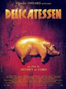 Affiche originale du film «Delicatessen» de Marc Caro et Jean-Pierre Jeunet