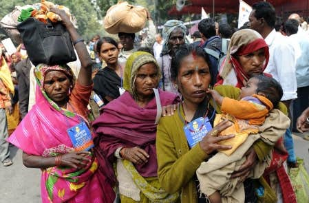 Marche de protestation de dalits  intouchables    224  New Delhi en 2009