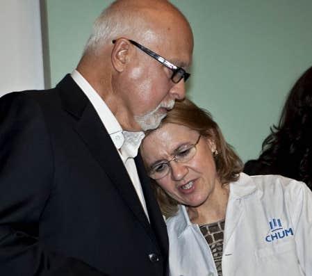 Ren&eacute; Ang&eacute;lil et de l&#39;oto-rhino-laryngologiste (ORL) et chirurgienne cervicofaciale Lyne Desnoyers<br />