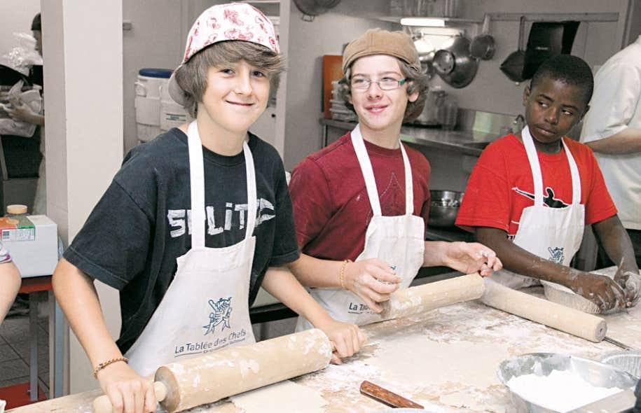 L'un des ateliers culinaires de La Tablée des chefs, au Camp Taillevent.