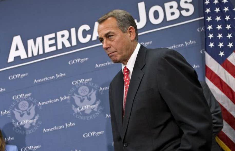 <div> Le pr&eacute;sident de la Chambre des repr&eacute;sentants, le r&eacute;publicain John Boehner</div>