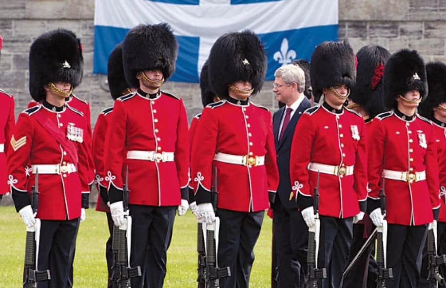 Le premier ministre canadien Stephen Harper à Saint-Paul-de-l'Île-aux-Noix, en septembre dernier, pour commémorer la guerre de 1812. Les commémorations dureront trois ans.