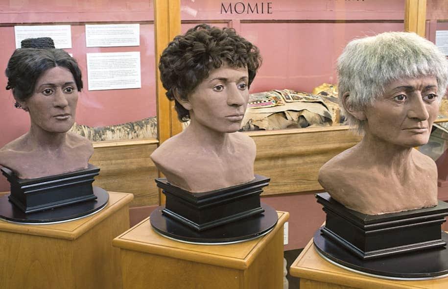 En collaboration avec des anthropologues ontariens et un ingénieur du Collège John Abbott, une artiste judiciaire de Montréal a reconstitué le visage qu'avaient avant leur mort les trois momies égyptiennes du musée Redpath de l'Université McGill.