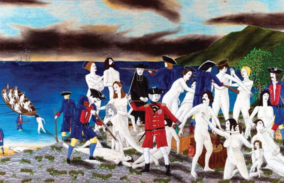La déportation des Acadiens (d'après Sir Frank Dicksee), de Mario Doucette (2012)