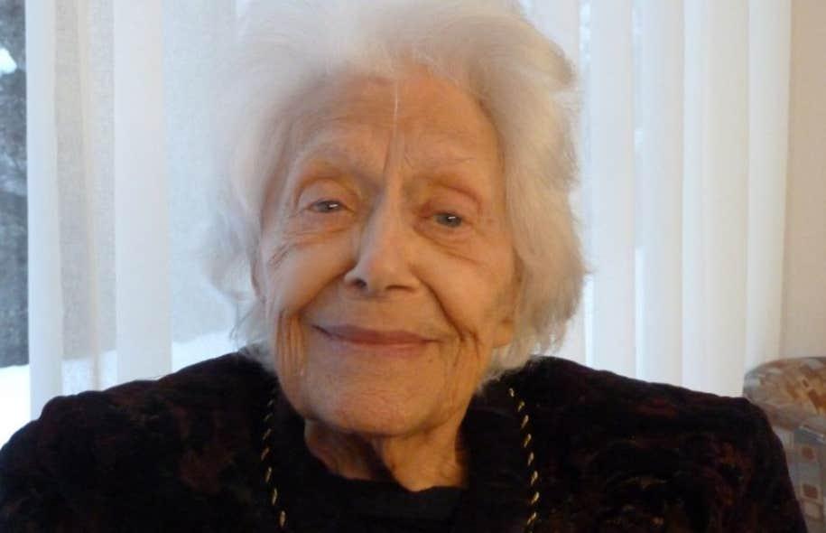 Hughette Oligny dans le documentaire réalisé par Pascal Gélinas,«Huguette Oligny, le goût de vivre».