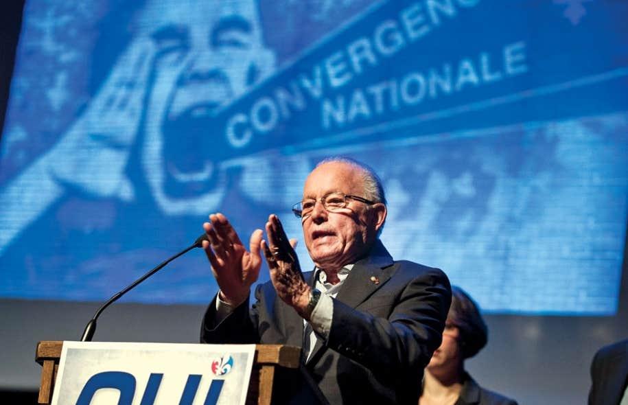 Bernard Landry au congrès de la Convergence nationale, dimanche.