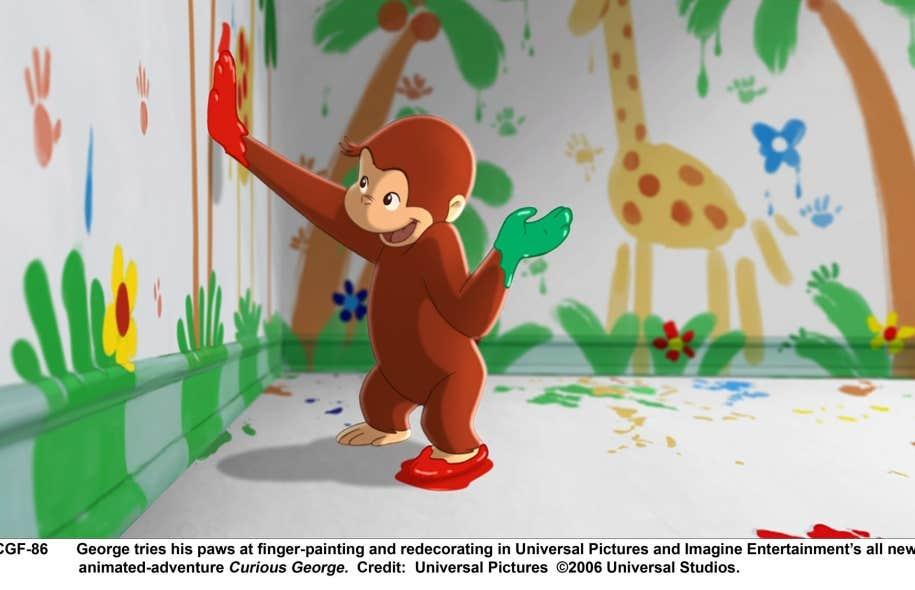 La version moderne de Curious George dans un film américain datant de 2006.