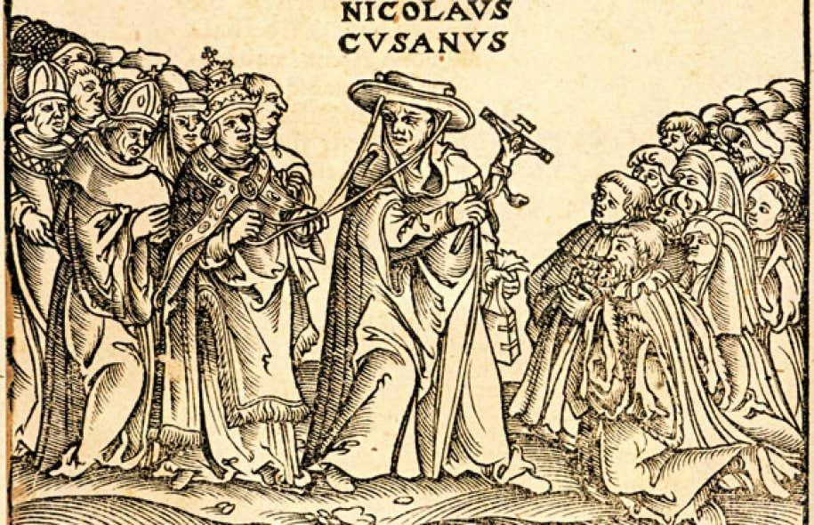 Johannes Kymæus, 1498-1532, L'Hercule du pape contre les Allemands. Détails du fronticipice du pamphlet dirigé contre le cardinal Nicolas de Cues.