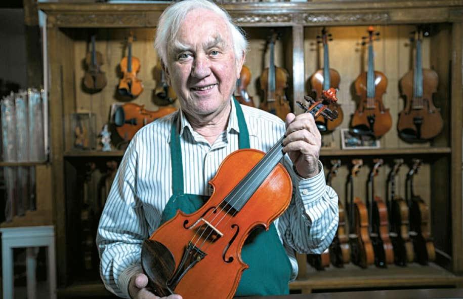 Jules Saint-Michel est le doyen des luthiers montréalais.